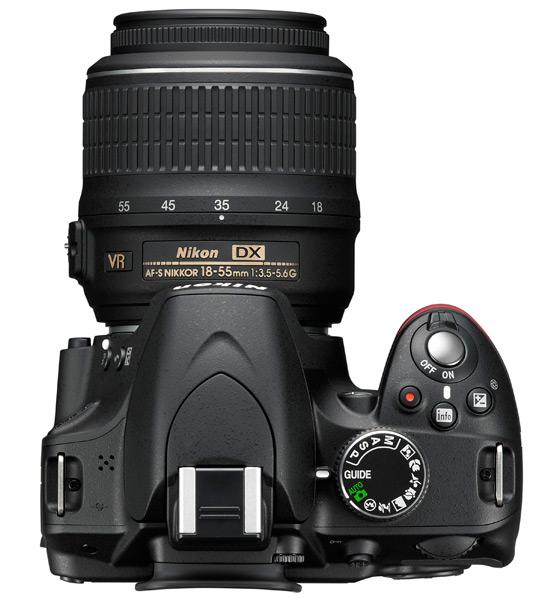 Nikon D3200 widok z góry