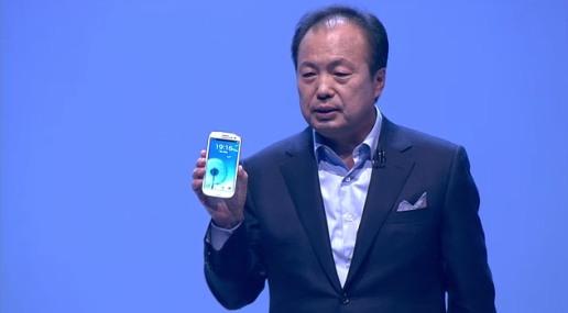 Samsung Galaxy S III 3 premiera smartfona JK Shin