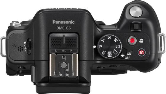 Panasonic Lumix G5 aparat cyfrowy z wymienną optyką widok góra