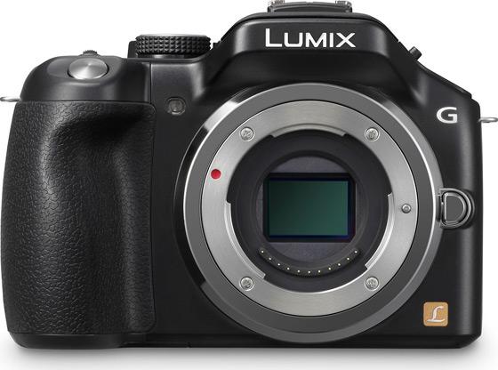 Panasonic Lumix G5 aparat cyfrowy z wymienną optyką widok przód sensor 4:3