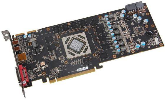 XFX Radeon HD 7970 Double Dissipation GHz Edition karta graficzna zdjęcie płytka drukowana