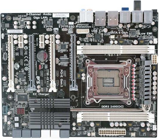 ECS X79R-AX Stealth płyta głowna zdjęcie