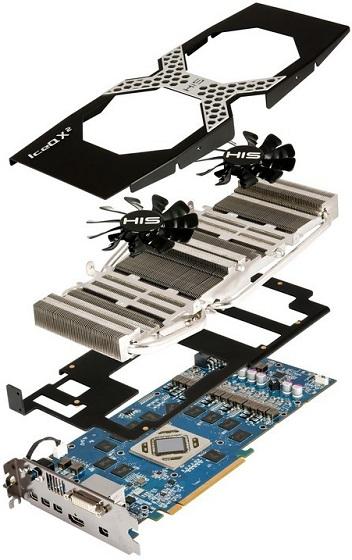 HIS 7970 X karta graficzna zdjęcie chłodzenie IceQ X² budowa
