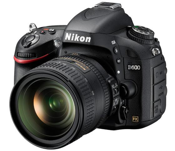 Nikon D600 widok przód bok obiektyw 24-85 mm