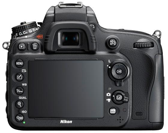 Nikon D600 tył LCD widok