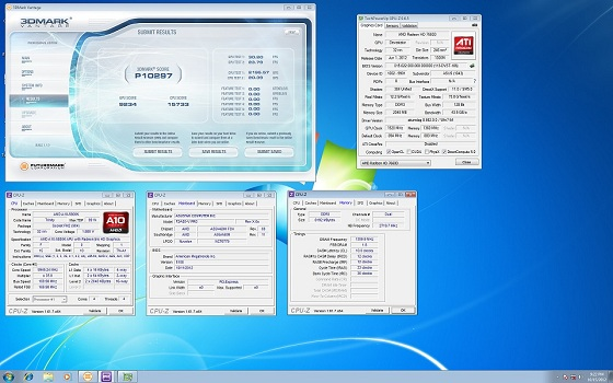 AMD Radeon HD 7660D układ graficzny A10-5800K procesor rekord podkręcanie 3DMark Vantage 10297 OC-wzz zrzut ekranu