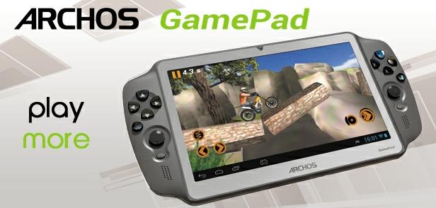 Archos GamePad: hybryda tabletu i konsoli do gier z Androidem 4.1 Jelly Bean - cena i specyfikacja