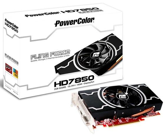 PowerColor Radeon HD 7850 Filing Force karta graficzna zdjęcie opakowanie
