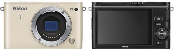 Nikon 1 J3 widok przód tył aparat cyfrowy