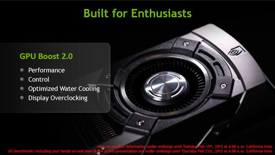 Nvidia GeForce GTX Titan karta graficzna GPU Boost 2.0 slajd