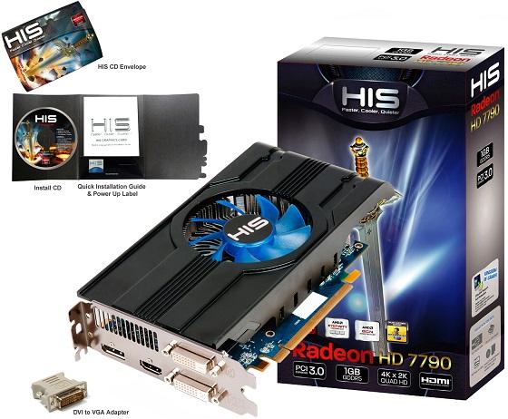 HIS Radeon HD 7790 iCooler karta graficzna zdjęcie opakowanie