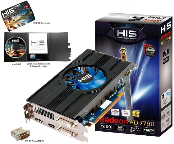 HIS Radeon HD 7790 iCooler Turbo karta graficzna zdjęcie opakowanie