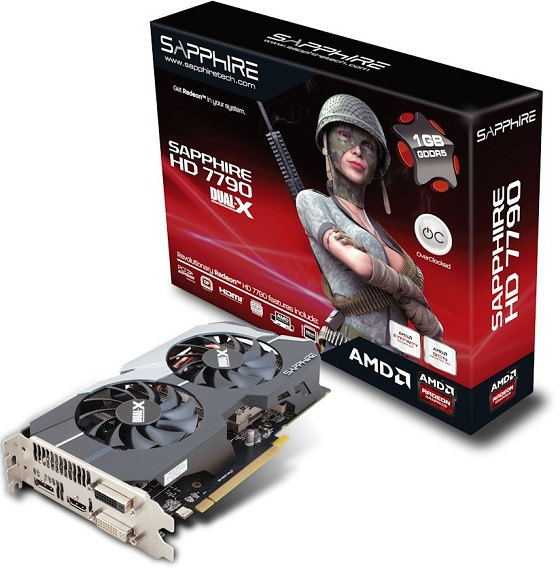 Sapphire Radeon HD 7790 Dual-X karta graficzna zdjęcie opakowanie