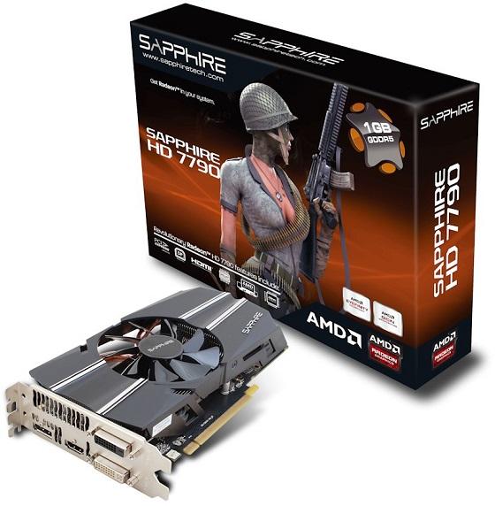 Sapphire Radeon HD 7790 karta graficzna zdjęcie opakowanie