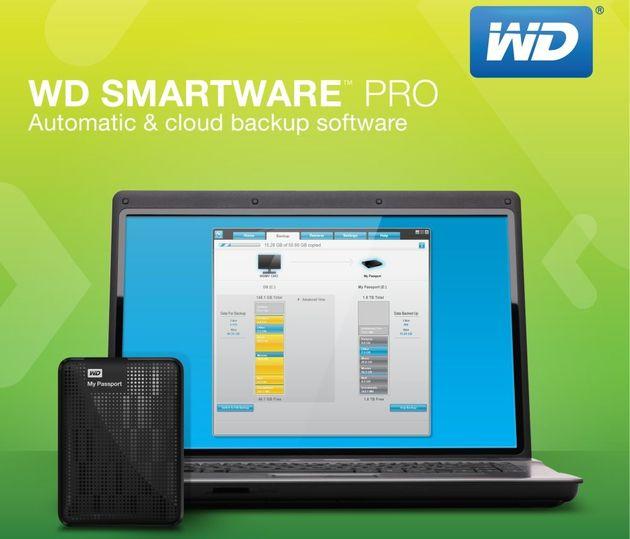WD SmartWare Pro aplikacja grafika