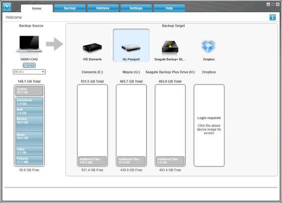WD SmartWare Pro aplikacja zrzut ekranu