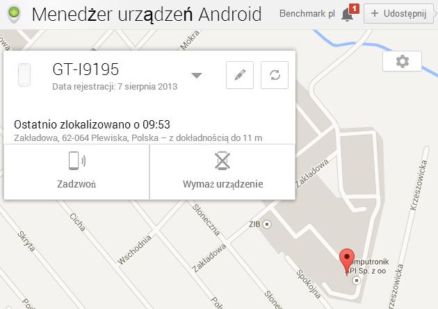 Menedżer urządzeń Android