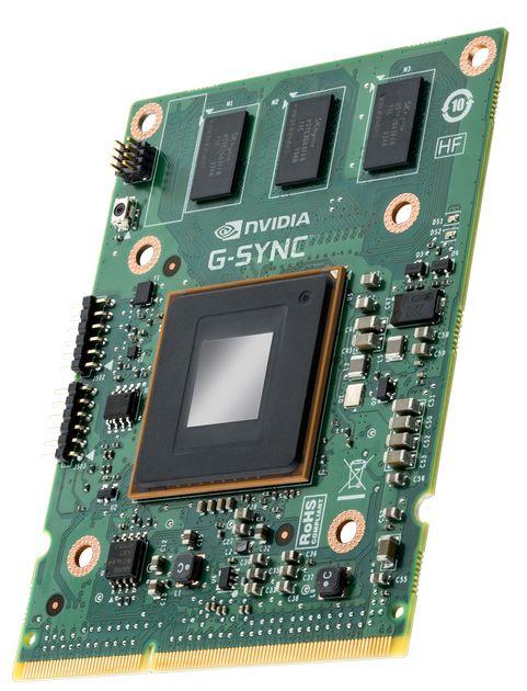 Nvidia G-SYNC moduł zdjęcie