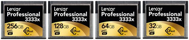 Lexar Professional CFast 2.0 3333x rodzina kart