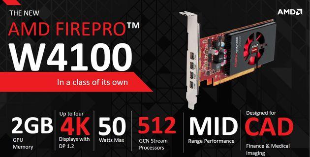 AMD FirePro W4100 karta graficzna