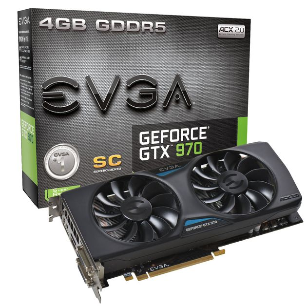 EVGA GeForce GTX 970 Superclocked ACX 2.0 karta graficzna