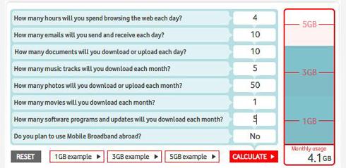 Vodafone - kalkulator