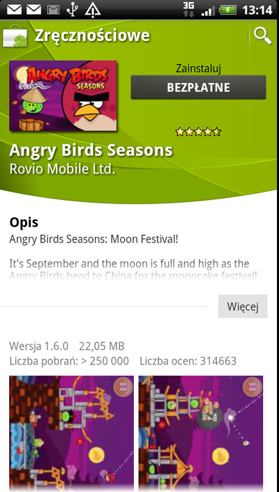 Pobieranie aplikacji z Android Market