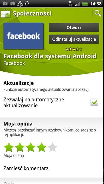 Korzystanie z facebooka na telefonie