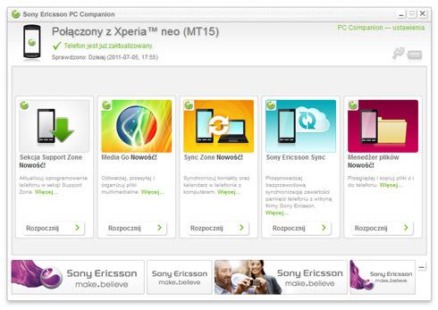 Synchronizacja telefonu SONY na Androidzie z Windowsem