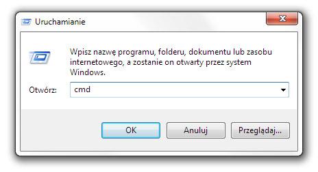 Uruchamianie konsoli komend cmd