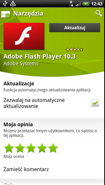 Instalowanie Adobe Flash Player