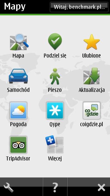 Nokia 500 - mapy