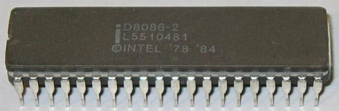Procesor Intel 8086 z 1978 roku, od którego wzięła początek architektura x86.