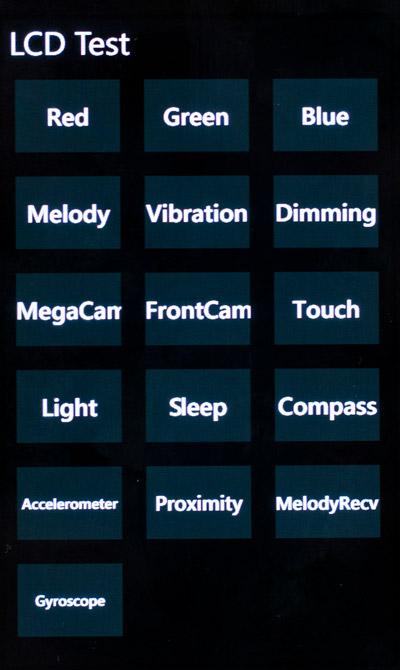 Samsung Omnia W - Diagnosis