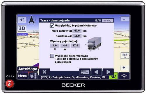 Automapa dla ciężarówek