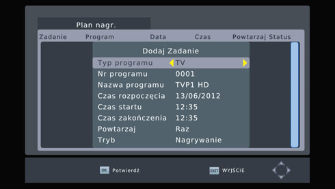 Dekodery DVB-T WIWA - oprogramowanie