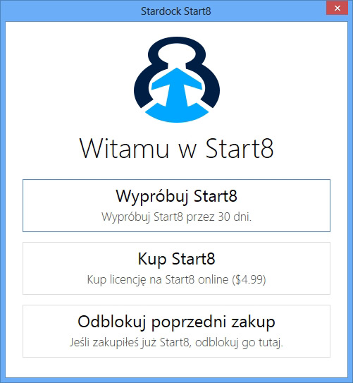 Star8 - aplikacja do przywrócenia menu start
