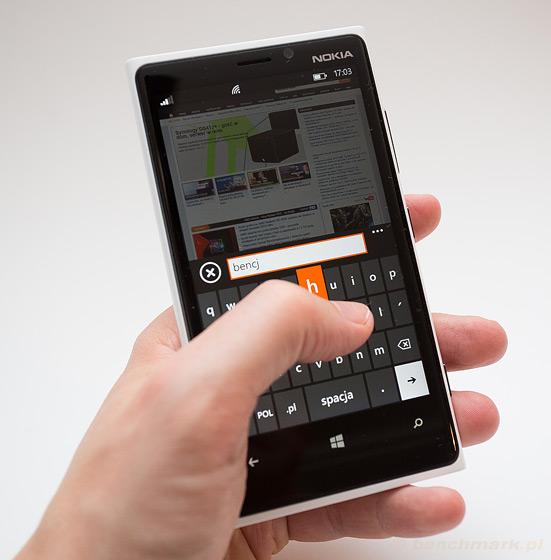Nokia Lumia 920 klawiatura
