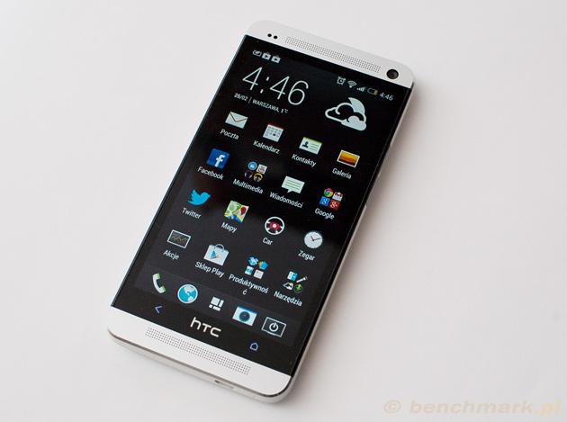 HTC One ekran włączony