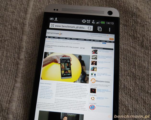 HTC One ekran