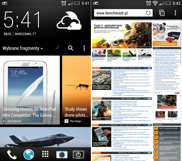 HTC przeglądarka