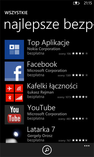 windows phone sklep z aplikacjami