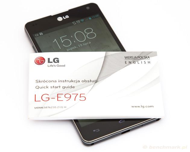LG Swift G ze skróconą instrukcją obsługi