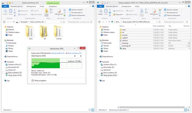 Proces kopiowania plików