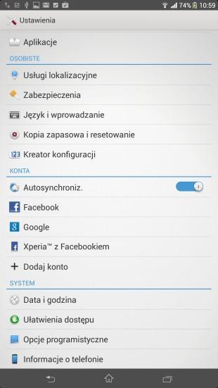 opcje programistyczne Android 4.2