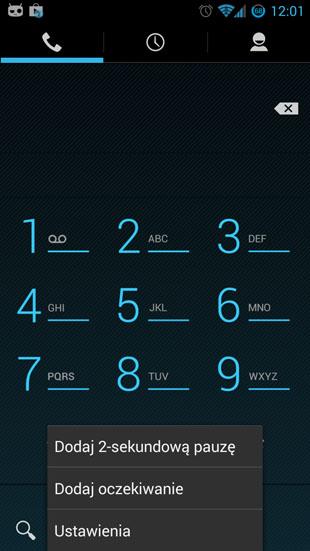 Android 4.3 ustawienia połączeń