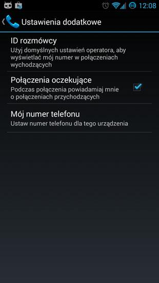 Android 4.3 ID rozmówcy