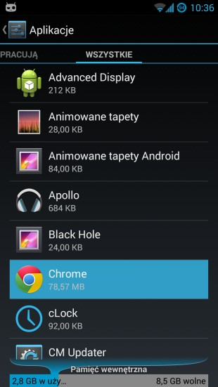 android domyślne aplikacje