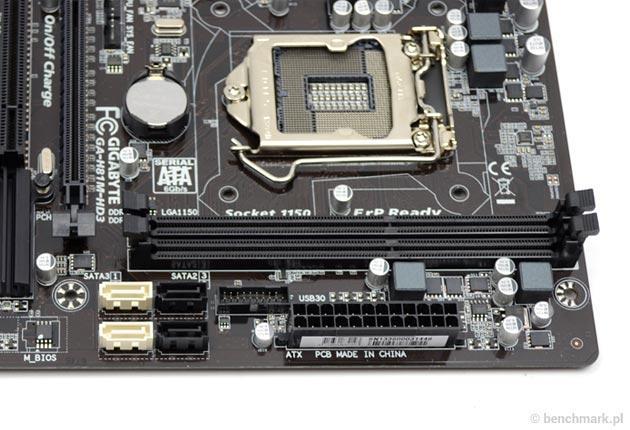 Gigabyte GA-H81M-HD3 sloty ram