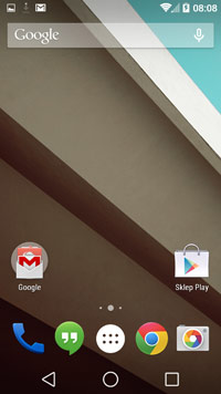 Android L - pulpit